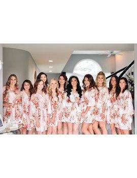 Sale! Silk Bridesmaid Robes   Bridesmaid Gifts   Floral Robe   Getting Ready Robes   Bridal Party Gift   Kimono Robe   Bridesmaid Robes Set by Etsy