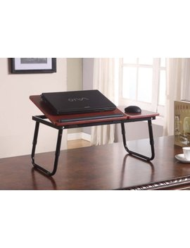 Kings Brand Foldable Adjustable Laptop Stand For Table, Sofa & Bed (Cherry) by Kings Brand Furniture