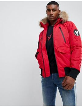 Good For Nothing Parka Jacket In Red by Good For Nothing