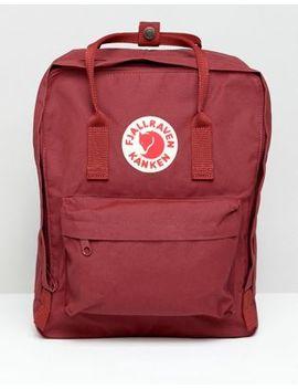 Fjallraven Kanken Backpack In Red by Fjallraven