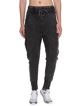 Forbidefense Women's Jogger Pants Casual Cotton Harem Jean High Waist Drawstring Trousers by Forbidefense