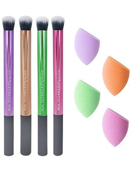 Real Techniques Color Correcting Essentials Makeup Brush Set Cancel Sallowness, Conceal Darkness, Neutralize Redness, Brighten by Real Techniques