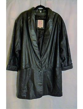 Leather Jacket  Lisa Loren   Women's&Nbsp; Large &Nbsp; Black&Nbsp; Pre Owned by Lisa Loren