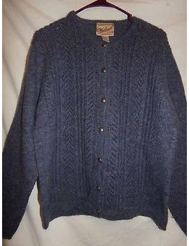 Woolrich Womens Wool Button  Up  Cardigan Size Large Metal Buttons Excellent by Woolrich