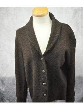 Lauren Ralph Lauren Womens Wool Button Up Cardigan Size Large Brown by Lauren Ralph Lauren