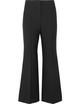 Pantalon Large Raccourci En Crêpe De Laine Et Soie Mélangées by Valentino