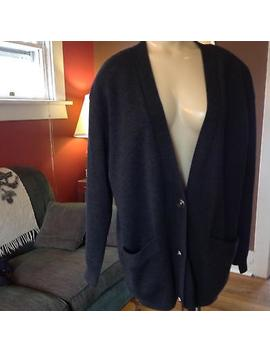 Vtg Classiques Entier Sweater Womens Large 100 Percents Merino Wool Long Cardigan Jacket by Classiques Entier