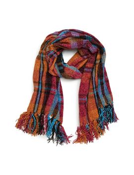Plaid Chenille Scarf by David & Young