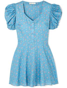 Mini Robe En Coton à Imprimé Fleuri Cora by Love Shack Fancy