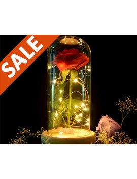 Beauty And The Beast Rose Light Disney Unique Christmas Gift Birthday Gift Kids Room Decor Modern Rose Light Christmas Gift by Etsy