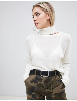 Missguided Roll Neck Cropped Jumper by Missguided
