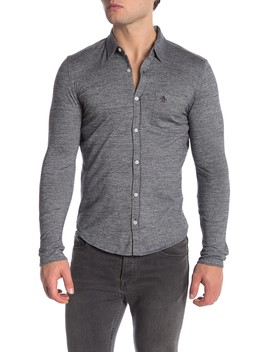 Jaspe Long Sleeve Slim Fit Shirt by Original Penguin