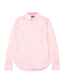 Ohio Face Striped Cotton Shirt by Acne Studios