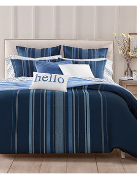 Embroidered Lattice 300 Thread Count Bedding Collection, Created For Macy's by Charter Club Damask Designs