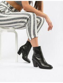 Кожаные полусапожки с эффектом носков Asos Design Elexis by Asos