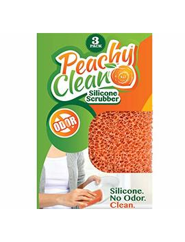 Peachy Clean Antimicrobial Silicone Scrubber (Qty 3)   Kitchen And Dish Scrubber by Peachy Clean