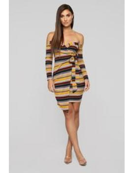 Love Drunk Wrap Dress   Multi by Fashion Nova