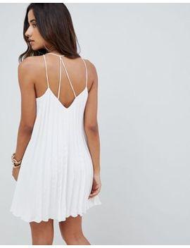 Плиссированное платье мини на бретельках Asos Design by Asos