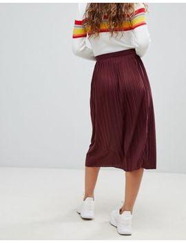Трикотажная плиссированная юбка миди Asos Design by Asos