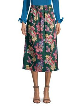 paisley-print-midi-skirt by tibi