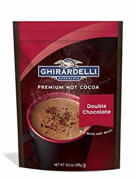 Ghirardelli Hot Chocolate Pouch, Double Chocolate, 10.5 Ounce by Ghirardelli