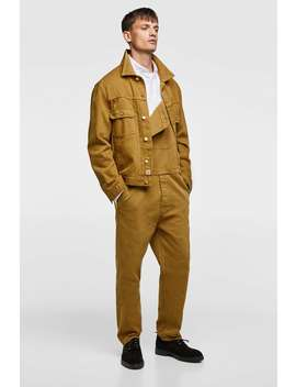Straight Fit Textured Weave Dungarees  Reworkshop By Collection Man by Zara