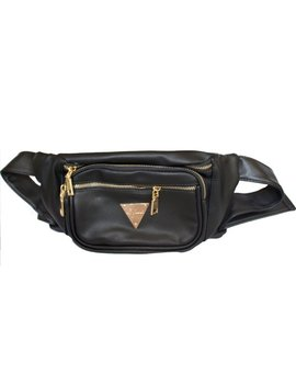 The Escobar Black Faux Leather Fanny Pack Bum Bag by Etsy