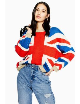 Union Jack Jumper by Topshop