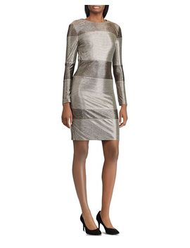 Sequined Stripe Dress by Lauren Ralph Lauren