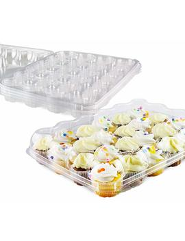 Chefible Premium 24 Mini Cupcake Container | Extremely Durable Cupcake Boxes | Mini Cupcakes, 5 Pack by Chefible®