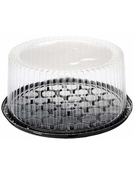 10 11inch Cake Double Layer Clear Cake Container Dome And Base Carry & Display Storage Box   4pack by A1 Bakery Supplies