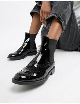 Лакированные ботинки челси Vagabond Amina by Asos