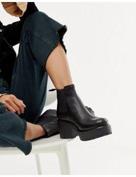 Черные кожаные ботинки челси Vagabond Dioon by Asos