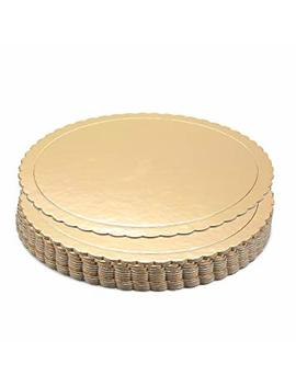 Round Cake Boards   12 Pack Cardboard Scalloped Cake Circle Base, 10 Inch Diameter, Gold by Juvale