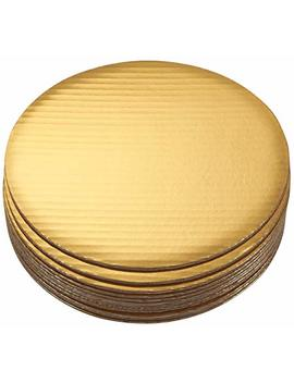 Cake Boards   12 Piece Cardboard Round Cake Circle Base, 10 Inches Diameter, Gold by Juvale