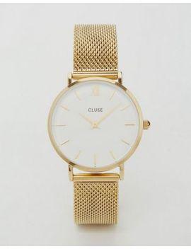 Часы с золотистым сетчатым ремешком Cluse Minuit Cl30010 by Asos