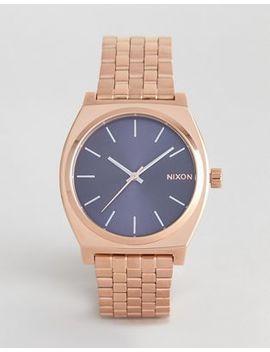 Наручные часы цвета розового золота Nixon A045 Time Teller   37 мм by Asos