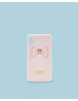 I Phone X Bow Clip Case by Ted Baker