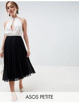 Плиссированная юбка миди Asos Design Petite by Asos