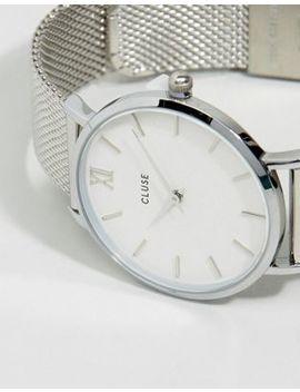 Серебристые часы Cluse Minuit Cl30009 by Asos