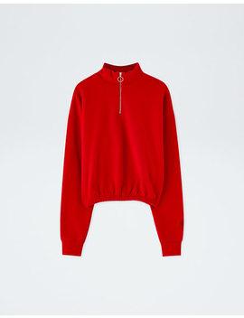 Rood Sweatshirt Pull&Bear By Rosalía by Pull & Bear