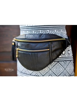 Leather Waist Bag Simple Design. Leather Fanny Pack.  Bum Bag. Hip Bag. Fanny Pack. Festival Bag. Bumbag. by Etsy