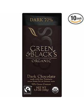 Green & Black's Organic Dark Chocolate, 70 Percents Cacao, 3.5 Ounce Bars (Pack Of 10) by Green & Black's Organic
