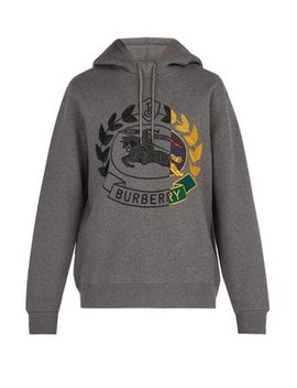 Knight Embroidered Hooded Sweatshirt by Matches Fashion