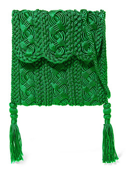 Youssef Small Crocheted Cord Shoulder Bag by Carrie Forbes