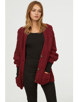 Cardigan Mit  Zopfmuster by H&M