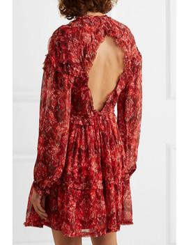 Darling Open Back Printed Georgette Mini Dress by Iro