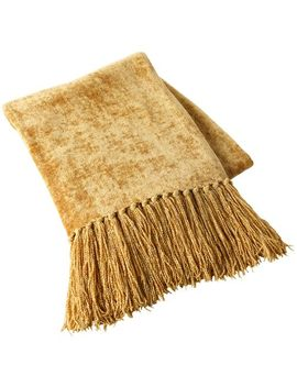 Gold Chenille Throw by Pier1 Imports