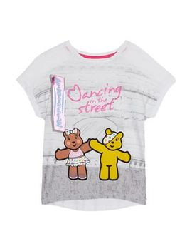 Bbc Children In Need   Girls' White 'dancing In The Street' Print T Shirt by Bbc Children In Need
