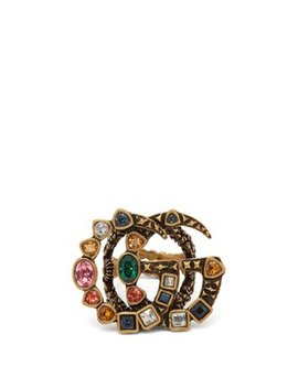 Gg Crystal Embellished Ring by Matches Fashion